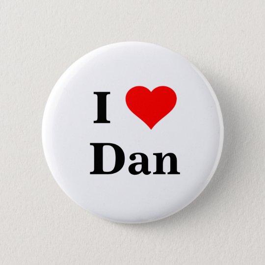 I Liebe-Dan-Knopf Runder Button 5,1 Cm