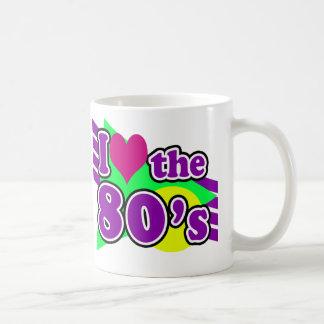 I Liebe das Achtzigerjahre geometrische Kaffeetasse
