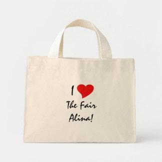 I Liebe das angemessene Alina I Einkaufstasche