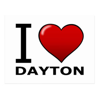 I LIEBE DAYTON, OH- - OHIO POSTKARTE