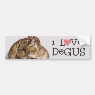 I Liebe Degus - Degu Stapel Autoaufkleber