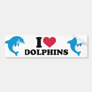 I Liebe-Delphine Autoaufkleber
