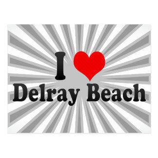 I Liebe Delray Beach, Vereinigte Staaten Postkarte