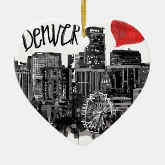 I Liebe Denver Keramik Ornament