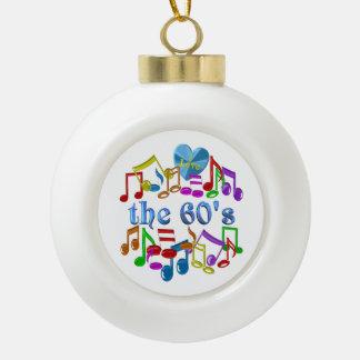 I Liebe der 60er Keramik Kugel-Ornament