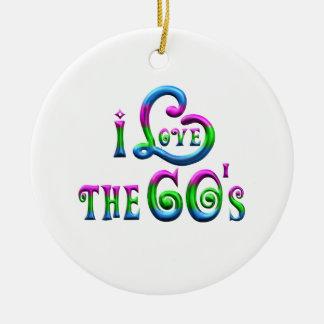 I Liebe der 60er Keramik Ornament