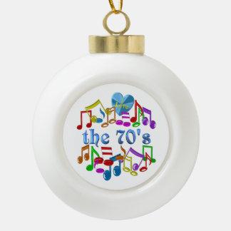 I Liebe der 70er Keramik Kugel-Ornament