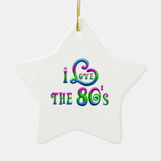 I Liebe der 80er Keramik Stern-Ornament