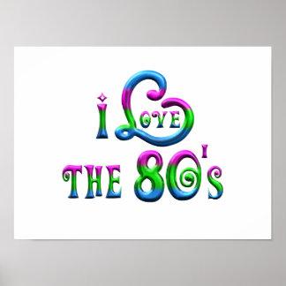 I Liebe der 80er Poster