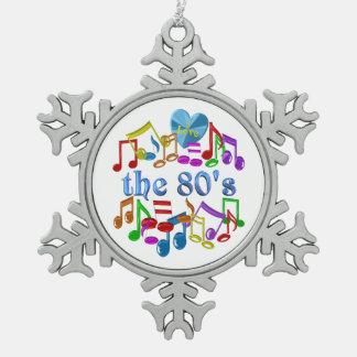 I Liebe der 80er Schneeflocken Zinn-Ornament