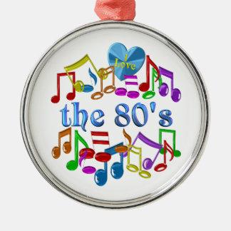 I Liebe der 80er Silbernes Ornament