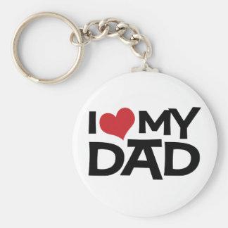 I Liebe der mein Vatertag Vati- Standard Runder Schlüsselanhänger