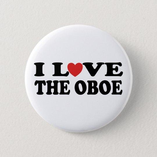 I Liebe der Oboe Knopf Runder Button 5,7 Cm
