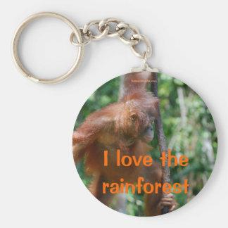 I Liebe der Regenwald Schlüsselanhänger