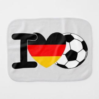 I Liebe-Deutsch-Fußball Baby Spucktuch