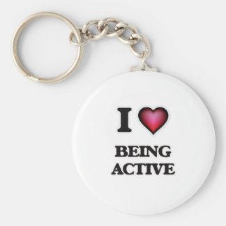 I Liebe, die aktiv ist Schlüsselanhänger