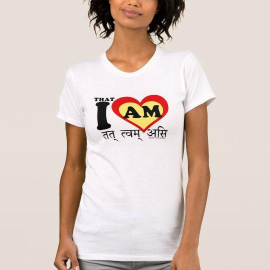 I Liebe, die bin ich, auf sanscrit T-Shirt