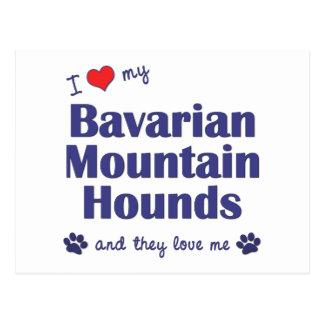 I Liebe, die mein bayerischer Berg verfolgt Postkarten