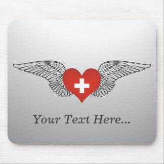I Liebe die Schweiz - Flügel Mousepad