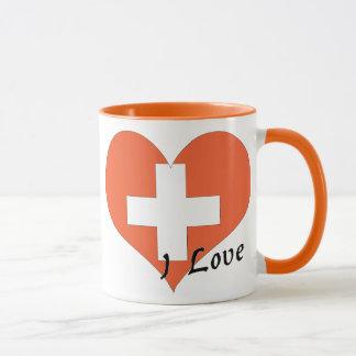 I Liebe die Schweiz Tasse