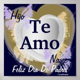 I Liebe, die Sie der Sohn [spanisch] Plakat-Besond Poster