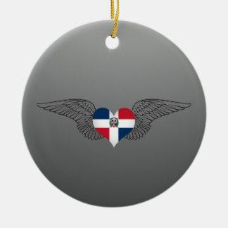 I Liebe-Dominikanische Republik - Flügel Keramik Ornament