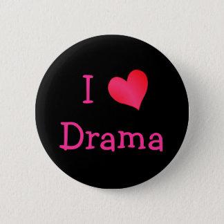 I Liebe-Drama Runder Button 5,7 Cm
