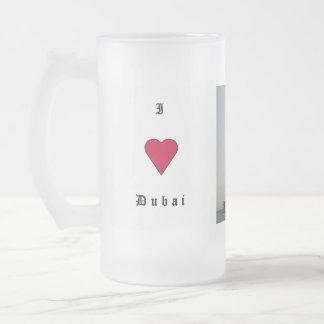 I Liebe Dubai Matte Glastasse