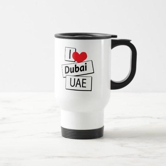 I Liebe Dubai UAE Edelstahl Thermotasse