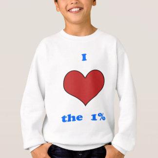 I Liebe ein Prozent Sweatshirt