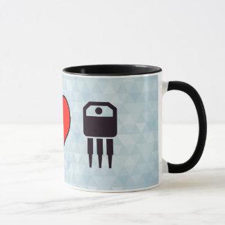 I Liebe-elektronische Transistoren Tasse