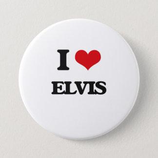 I Liebe Elvis Runder Button 7,6 Cm