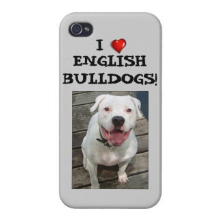 I Liebe-Englisch-Bulldoggen! iPhone 4 Fall Etui Fürs iPhone 4