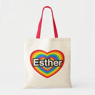 I Liebe Esther. Liebe I Sie Esther. Herz Budget Stoffbeutel