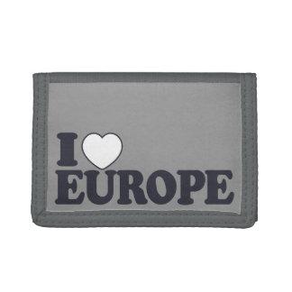 I LIEBE-EUROPA-Gewohnheitsgeldbörsen