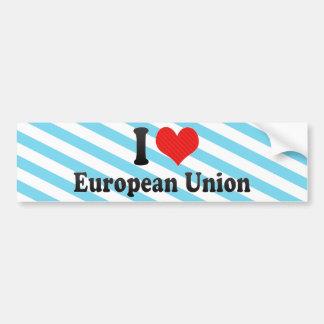 I Liebe-Europäer-Gewerkschaft Autoaufkleber