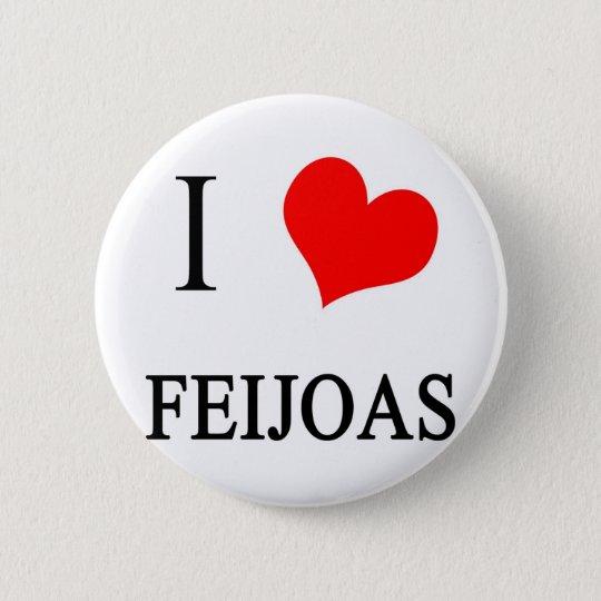 I Liebe Feijoas Runder Button 5,7 Cm