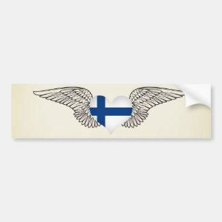 I Liebe Finnland - Flügel Autoaufkleber