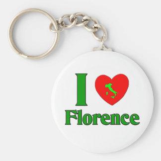 I Liebe Florenz Italien Standard Runder Schlüsselanhänger
