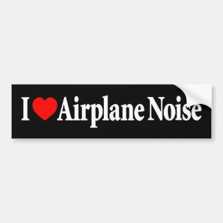 I Liebe-Flugzeug-Geräusche Autoaufkleber