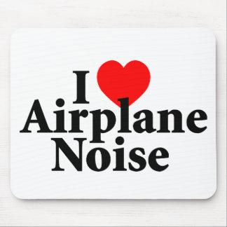 I Liebe-Flugzeug-Geräusche Mousepads