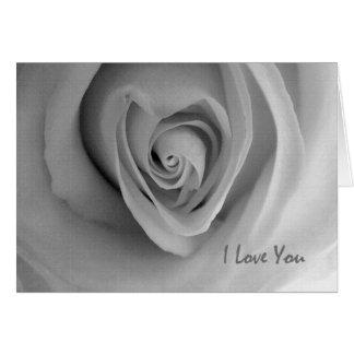 I Liebe formten Sie, Herz Rose, Valentine Grußkarte