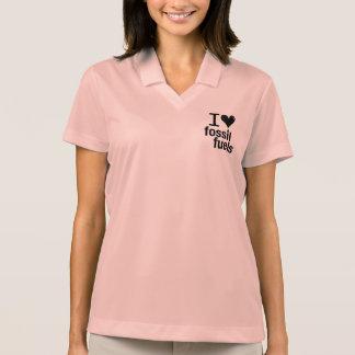 I Liebe-Fossilienbrennstoffpolo-Shirt - Frauen Polo Shirt