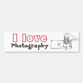 I Liebe-Fotografie-Retro Kamera Autoaufkleber