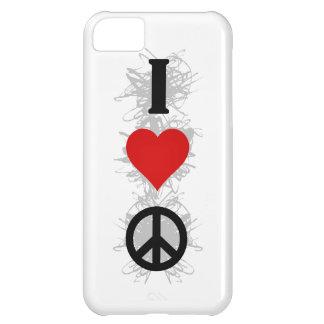 I Liebe-Friedensstädtische Art iPhone 5C Hülle