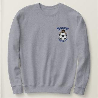 I Liebe-Fußball Besticktes Sweatshirt