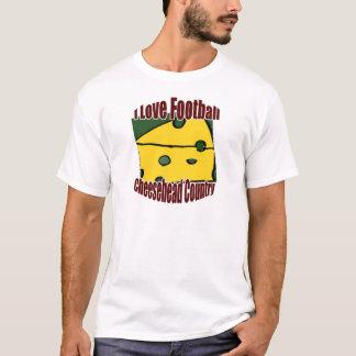 I Liebe-Fußball-Grün und GoldCheesehead Land T-Shirt