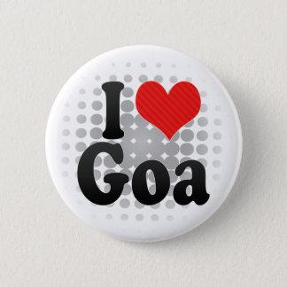 I Liebe Goa Runder Button 5,7 Cm