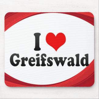 I Liebe Greifswald, Deutschland Mousepad