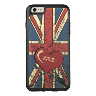 I Liebe-Großbritannien beunruhigte Flagge OtterBox iPhone 6/6s Plus Hülle